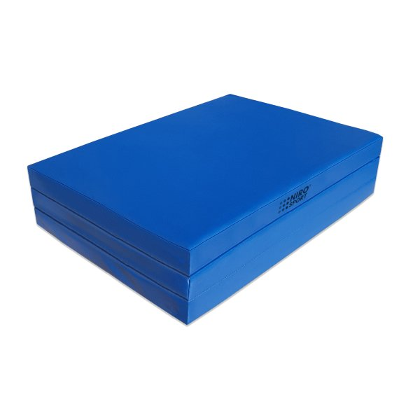 Gymnastics mat 180 x 80 x 6 folding Blue