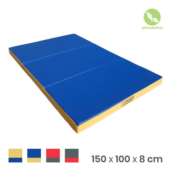 Gymnastics mat 150 x 100 x 8 cm folding