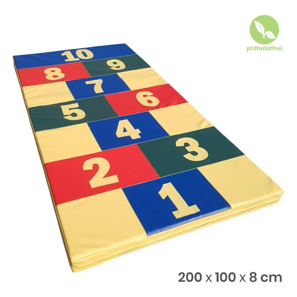 Turnmatte 200 x 100 x 8 cm «Hopscotch»