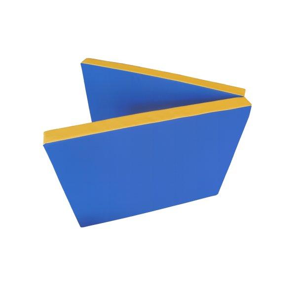 Gymnastics mat 200 x 80 x 8 cm folding Blue/Yellow