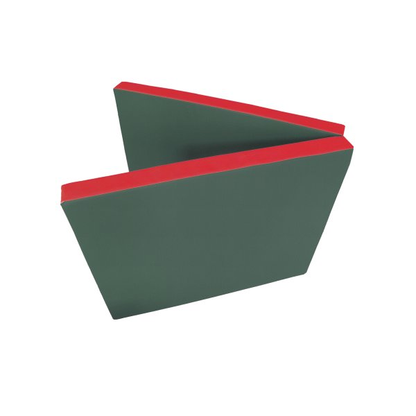 Gymnastics mat 200 x 80 x 8 cm folding Green/Red