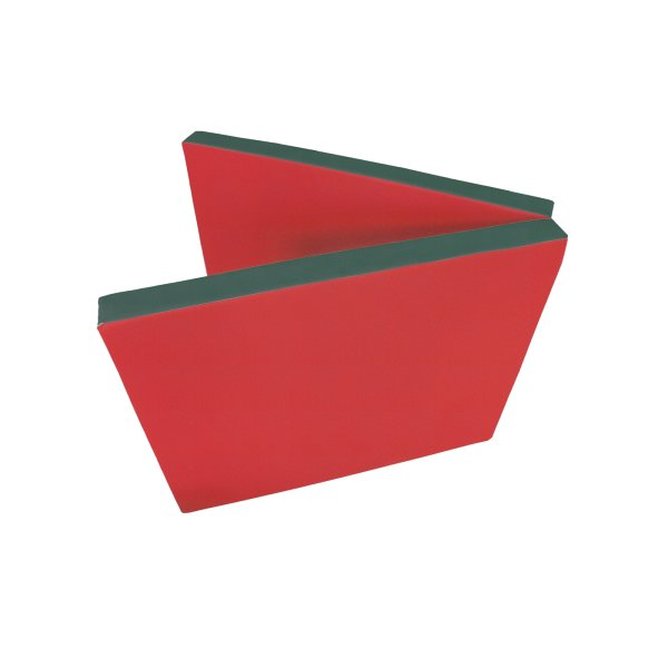 Gymnastics mat 200 x 80 x 8 cm folding Red/Green