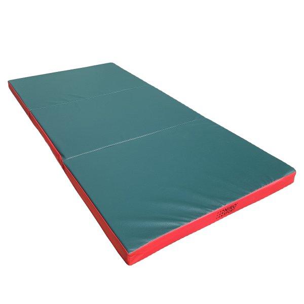 Gymnastics mat 210 x 100 x 8 cm folding Green/Red