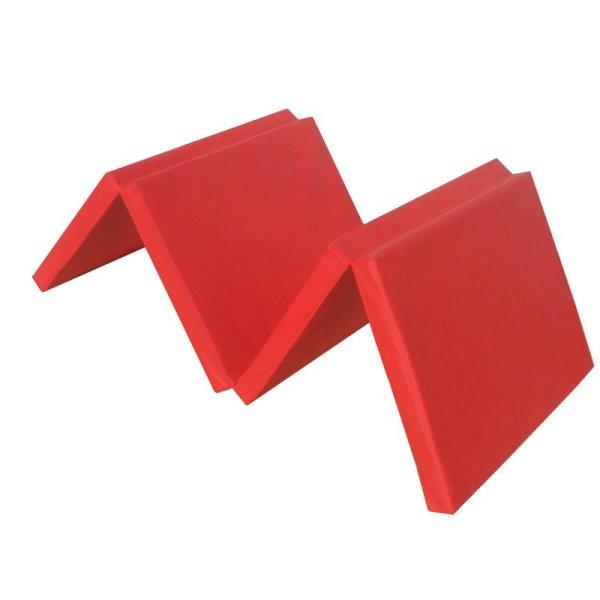 Gymnastics mat 180 x 60 x 5 cm folding Red