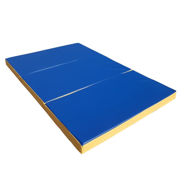 Gymnastics mat 150 x 100 x 8 cm folding Blue/Yellow