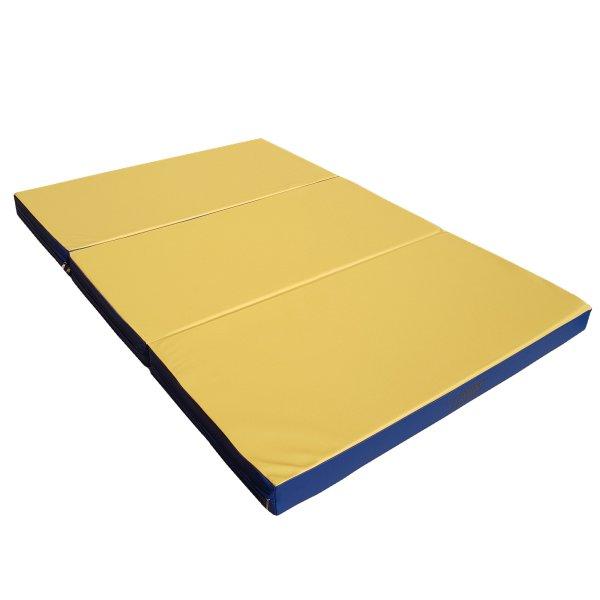 Gymnastics mat 150 x 100 x 8 cm folding Yellow/Blue