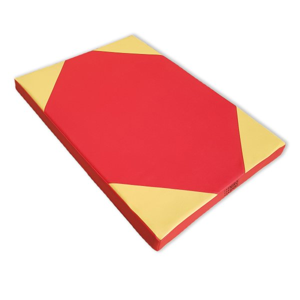 Gymnastics mat 100 x 70 x 8 cm Red/Yellow