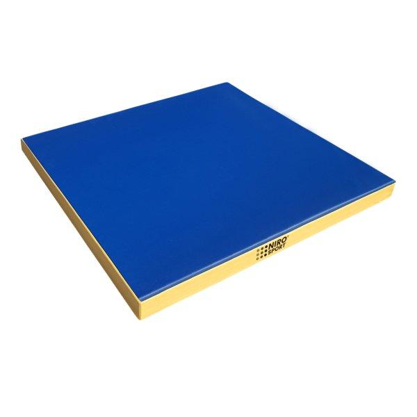 Gymnastics mat 100 x 100 x 8 cm Blue/Yellow