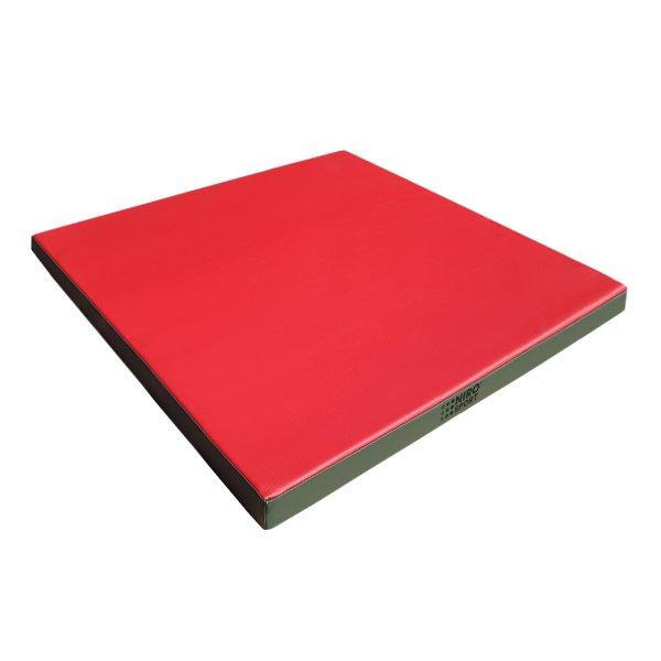Gymnastics mat 100 x 100 x 8 cm Red/Green