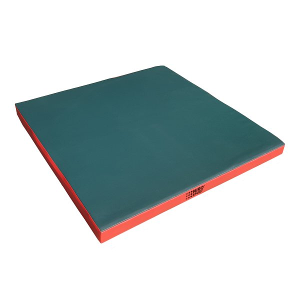 Turnmatte 100 x 100 x 8 cm Grün/Rot