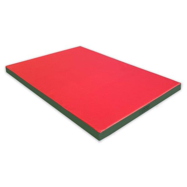 Gymnastics mat 150 x 100 x 8 cm Red/Green