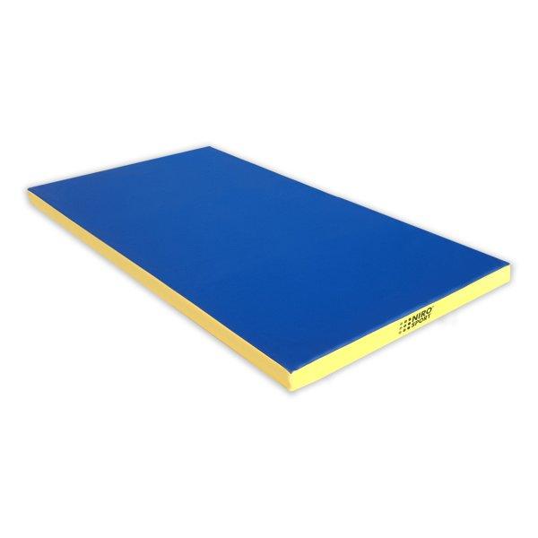 Gymnastics mat 200 x 100 x 8 cm Blue/Yellow
