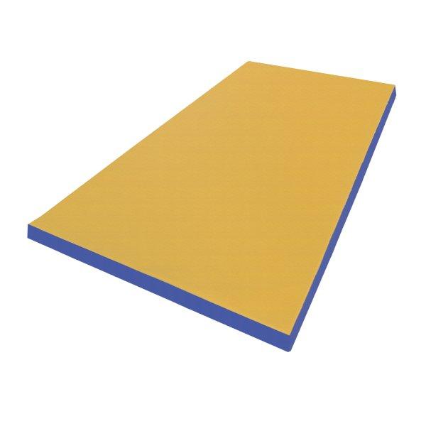 Turnmatte 200 x 100 x 8 cm Gelb/Blau
