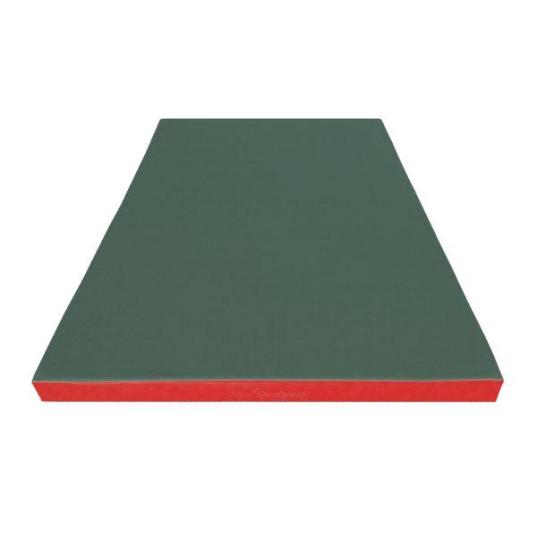 Gymnastics mat 140 x 100 x 8 cm Green/Red