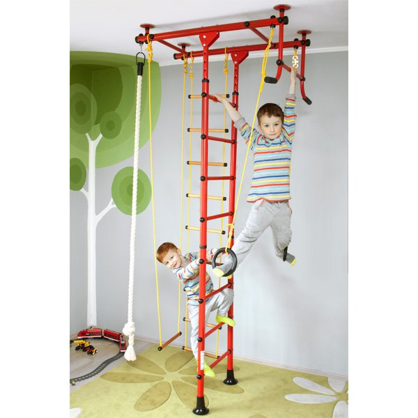 Wall bars FitTop M1 240 - 290 cm Red Metal bars