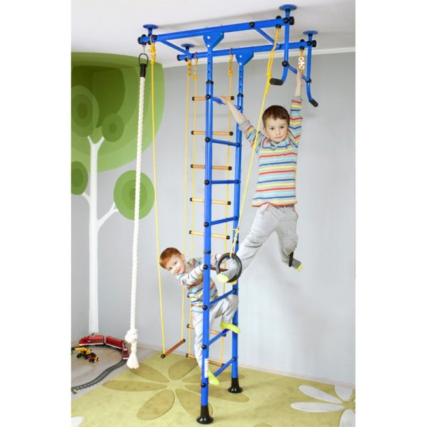 Wall bars FitTop M1 240 - 290 cm Blue Metal bars