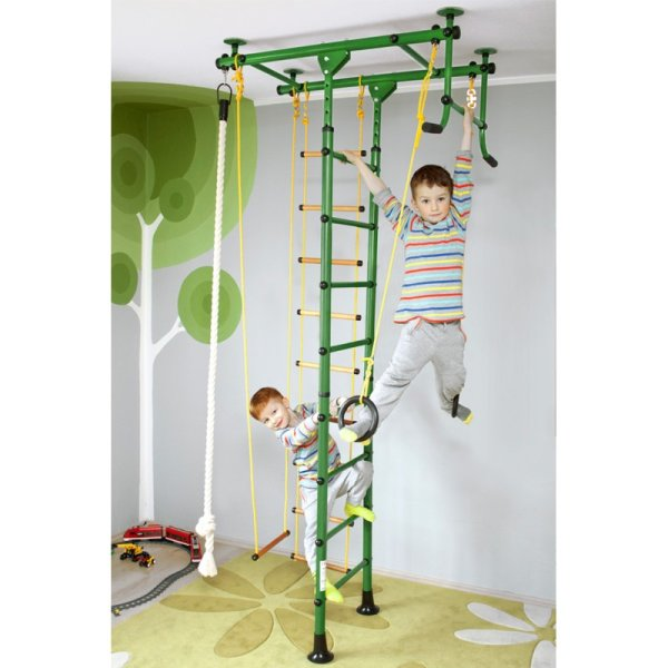Wall bars FitTop M1 240 - 290 cm Green Wooden bars
