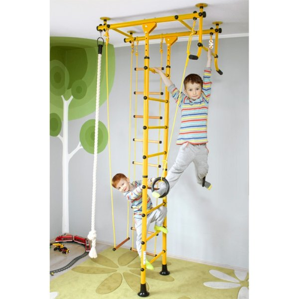 Wall bars FitTop M1 220 - 270 cm Yellow Wooden bars