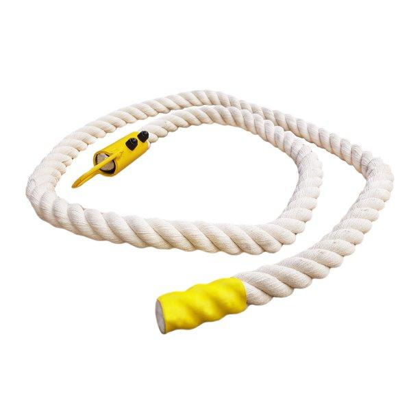 Klettertau Kletterseil Strickseil Baumwolle 3-litzig gedreht 2,00 m 25 mm ohne