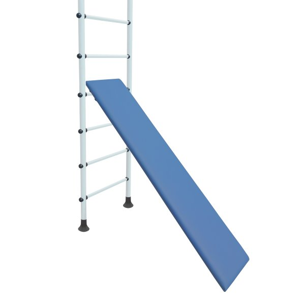 Incline board for wall bars