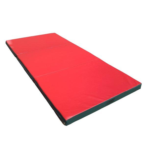 Turnmatte 300 x 100 x 8 cm klappbar Rot/Grün
